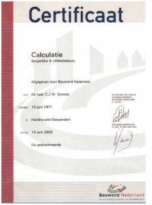 certificaat-calculatie-scholtebouw